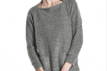 SLIVER KNIT DRESS Grey L