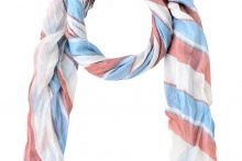FOULARD SCARF LONG BEACH Alaskan Blue