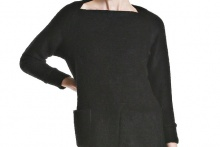 SLIVER KNIT DRESS Black L