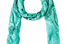 SCARF PAISLEY Pool Green