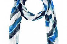 SCARF LONG BEACH Blue Depth